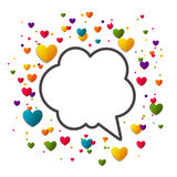 Colorful Background with Hearts Stock Images