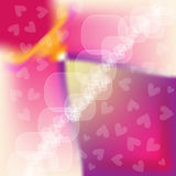 Colorful background with hearts Stock Photo