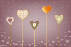 Colorful background with hearts Royalty Free Stock Photo
