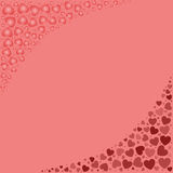 Colorful background with hearts Royalty Free Stock Image