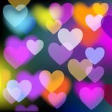 Colorful Background With Hearts. Vector Stock Photography