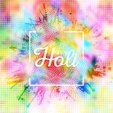 Colorful background for Holi celebration with colors splash, vector illustration Royalty Free Stock Photo