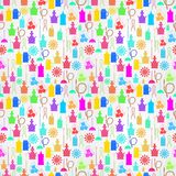 Colorful background for hookah components Stock Photos