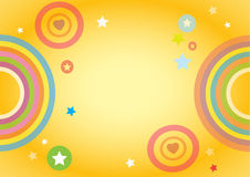 Colorful background  for kids. Vector Illustration, EPS 10 Royalty Free Stock Photo