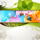 Colorful background with leaf Royalty Free Stock Images