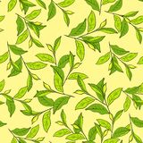 Colorful background with leaves. Seamless pattern for your design wallpapers, pattern fills, web page backgrounds, surface textures Stock Photos