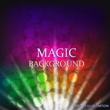 Colorful background with light effect. Vector illustration. Colorful background with light effect. Magical background . Illustration. Vector illustration Royalty Free Stock Photo