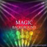 Colorful background with light effect. Vector illustration. Colorful background with light effect. Magical background . Illustration. Vector illustration Stock Photos