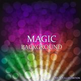 Colorful background with light effects. Vector illustration. Colorful background with light effects. Magical background . Illustration. Vector illustration Stock Images