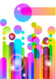 Colorful background with lines. Over white Stock Image