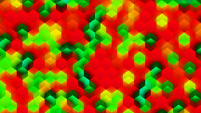 Colorful Background Made of Cubes. CGI Plastic Texture Made of Colorful Cubes Stock Photography