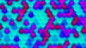Colorful Background Made of Cubes. CGI Plastic Texture Made of Colorful Cubes Stock Images