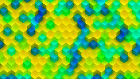 Colorful Background Made of Cubes. CGI Plastic Texture Made of Colorful Cubes Stock Image