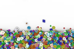 Colorful background made from sewing buttons vector illustration