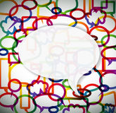 Colorful background made from speech bubbles Stock Image