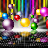 Colorful Background Means Balls Streaks And Grid Royalty Free Stock Image