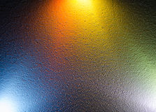 Colorful background. Mixing different colors of light. Stock Photos