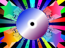 Colorful background with music CD Royalty Free Stock Image
