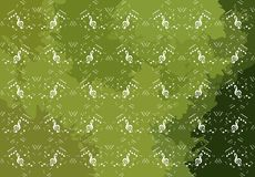 Colorful background with music notes. A colorful background with musical notes. A fantasy in shades of green that can be used in different projects, both musical vector illustration