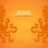 Colorful background with octopuses. Background with octopuses for your creative design Stock Image