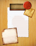 Colorful background of papers. A background of assorted paper backgrounds Stock Photography