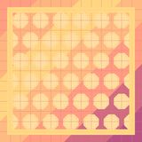Colorful Background in patchwork style with squares, honeycombs Stock Photo