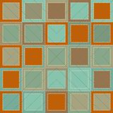 Colorful Background in patchwork style with squares and stitches Stock Photography