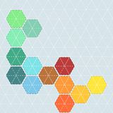Colorful background with pattern for patchwork with stitches and Royalty Free Stock Images