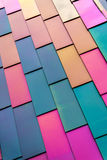 Colorful background pattern of Vinyl siding Royalty Free Stock Photos
