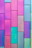 Colorful background pattern of Vinyl siding royalty free stock photography