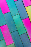 Colorful background pattern of Vinyl siding Stock Images