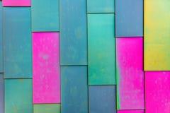 Colorful background pattern of Vinyl siding Stock Image