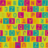 Colorful background pattern whith letters Stock Photography