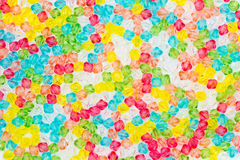 Colorful background from plastic beads. Royalty Free Stock Photo
