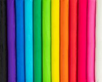 Colorful background of plasticine. Multicolor of modelling clay texture royalty free stock images