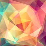 Colorful background with polygons Stock Photo