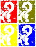 Colorful background with question marks Royalty Free Stock Images