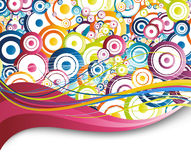 Colorful background - rainbow circles Royalty Free Stock Photography