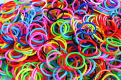 Colorful background rainbow colors rubber bands loom Royalty Free Stock Photography