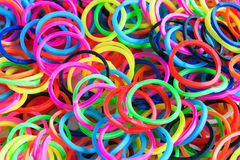 Colorful background rainbow colors rubber bands loom Stock Image