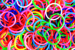 Colorful background rainbow colors rubber bands loom Royalty Free Stock Photo
