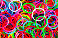 Colorful background rainbow colors rubber bands loom Stock Photo