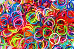 Colorful background rainbow colors rubber bands loom Stock Images
