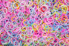 Colorful background rainbow colors rubber bands Royalty Free Stock Photography
