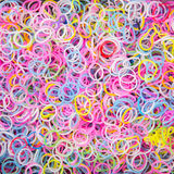 Colorful background rainbow colors rubber bands Stock Photos