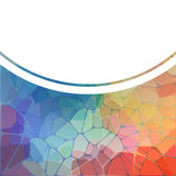 Colorful background with rainbow  geometric mosaic Royalty Free Stock Photography