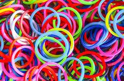 A Colorful background Rainbow loom rubber bands fashion Royalty Free Stock Photo