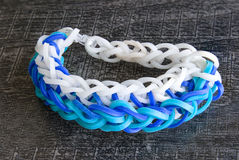 A Colorful background Rainbow loom rubber bands fashion Royalty Free Stock Images