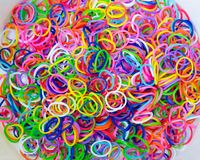 Colorful background Rainbow loom rubber bands fashion Royalty Free Stock Photography