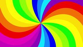 Colorful background rainbow  that  rotating spiral. stock footage